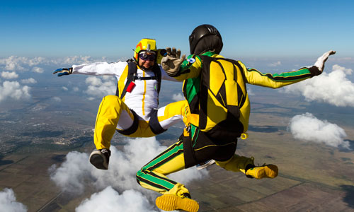 Having Fun as a Couple: Skydiving Together