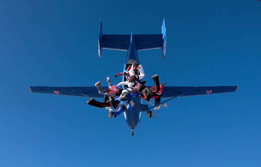 Skydiving Exits: Backflips and so much more