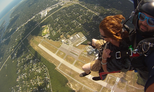 Skydiving: It's Natural To Feel Scared