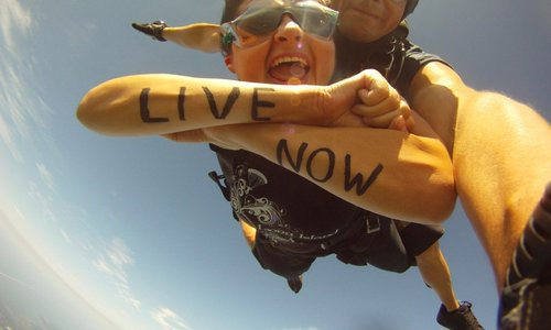 What to Write on Your Hands When Skydiving
