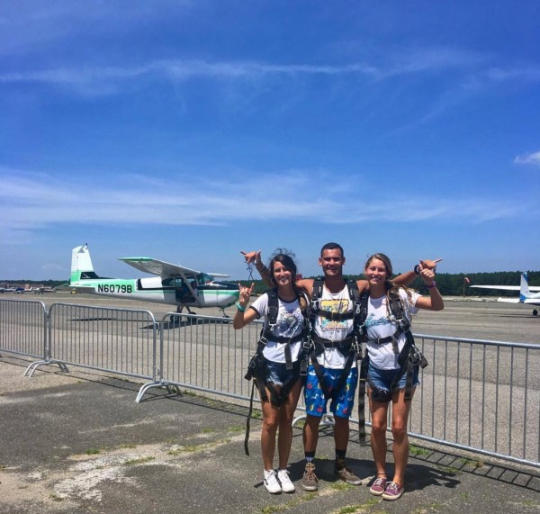 Group Skydiving Fun