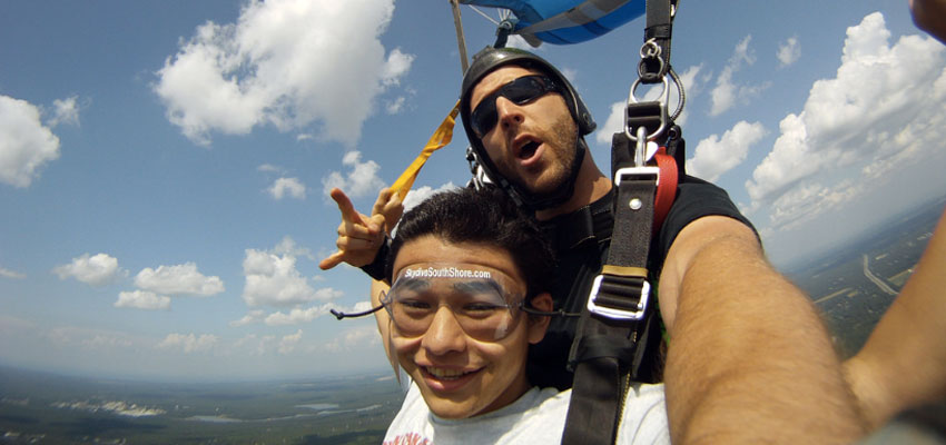 Tandem Skydiving over Long Island